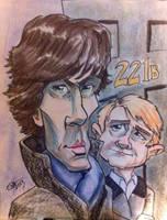 Holmes and Watson by charlando
