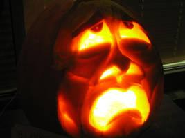 Tragedy Pumpkin, lit by charlando