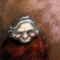 Baba Yaga? But she seems so happy. by charlando