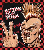 Bitter Old Punk label by charlando