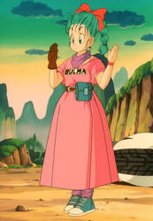 Teen Bulma in her other new outfit by Starman1999