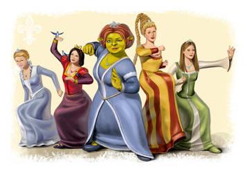 Shrek Princesses by MlleBrianna