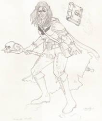 Corvus Sketch by Liamythesh