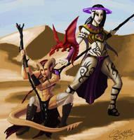 Damiana and Chrystala by Liamythesh