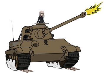 Erika and her Tiger II (H) by BoskeHUN