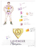 Lavender Menace (camp version) color study by lavendertiger