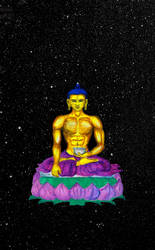 Buddha Galacticus by lavendertiger