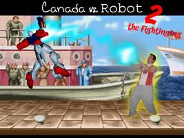 Canada vs Robot 2 by bonermcweiner