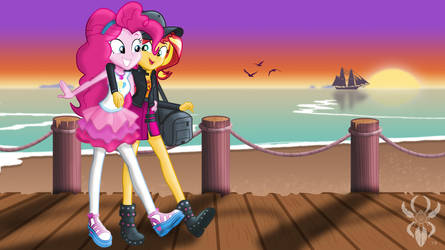 Pinkie Sunset Date by Legendary-Spider