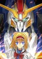 Ex-S Gundam/ALICE quickpaint by LazyRemnant