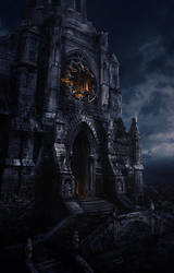 Destroyed Cathedral Exterior by inetgrafx