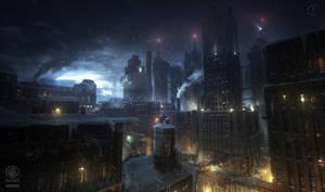 Batman - Arkham Origins: NEWGOTHAM ROOFTOPS by inetgrafx