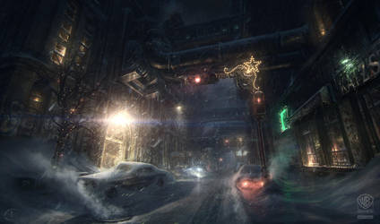 Batman - Arkham Origins: NEWGOTHAM STREETLEVEL by inetgrafx