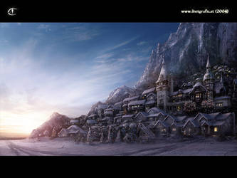Environment: Winter Village by inetgrafx