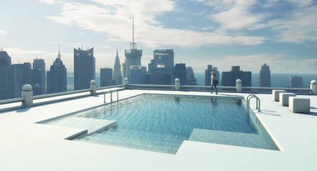 Mental Ray: Sky Pool by inetgrafx