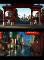 Speedpaint: Chinatown by inetgrafx