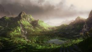 Speedpaint: Green hills by inetgrafx
