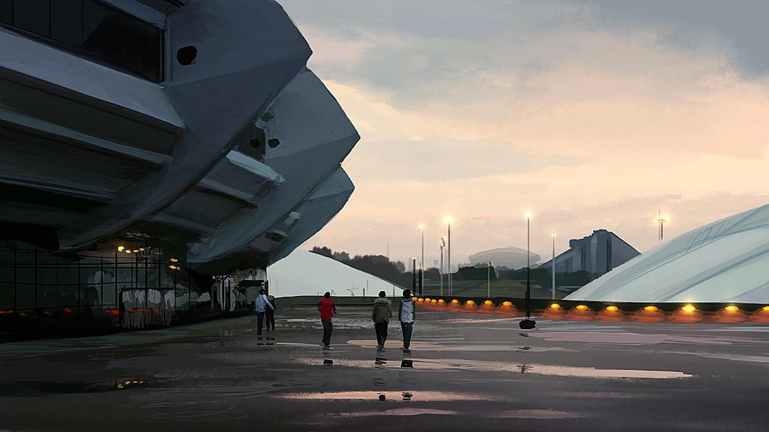 Speedpaint: Stadium by inetgrafx