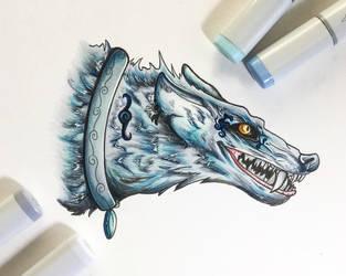 Elemental Wolf of Water by Artistlizard101