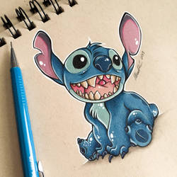 Stitch Toned Paper Test by Artistlizard101