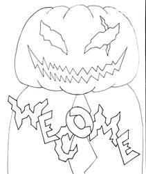 Drawtober Day#01: Pumpkin Head by Acedragon2000