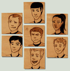 Star Trek Post-its by silveraaki