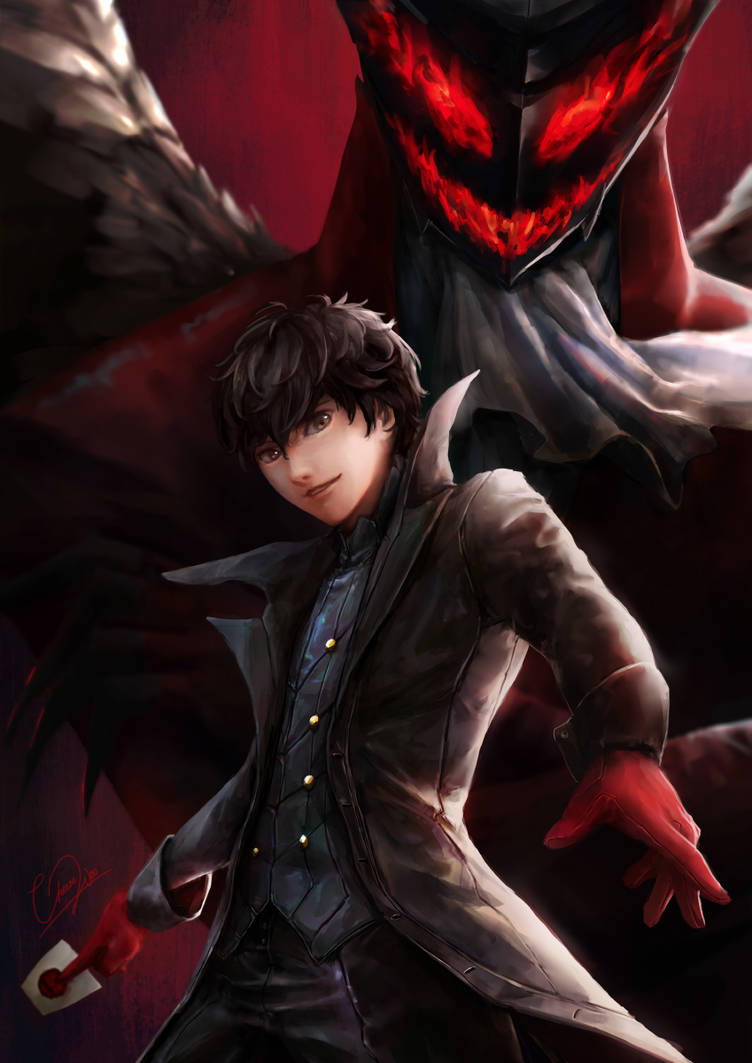 Joker and Arsene - Persona 5 by cheesewoo