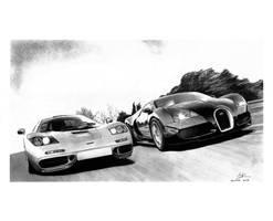 Mclaren F1 vs Bugatti Veyron by david10072