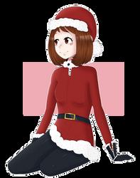 Christmas Uraraka by Chin-Kouhai