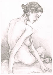 Seated Study #3 ('Ballerina at Rest') by Dkelabirath