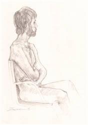 Seated Study #5 by Dkelabirath
