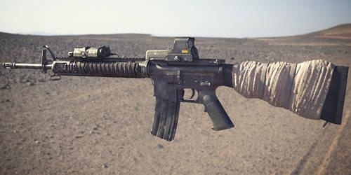 M16A4 Assault Rifle: Textured 1 by NordlingArt