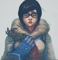 MEI Overwatch Fan Art by Razorb