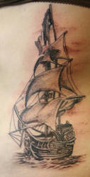 pirate ship by tattooedone