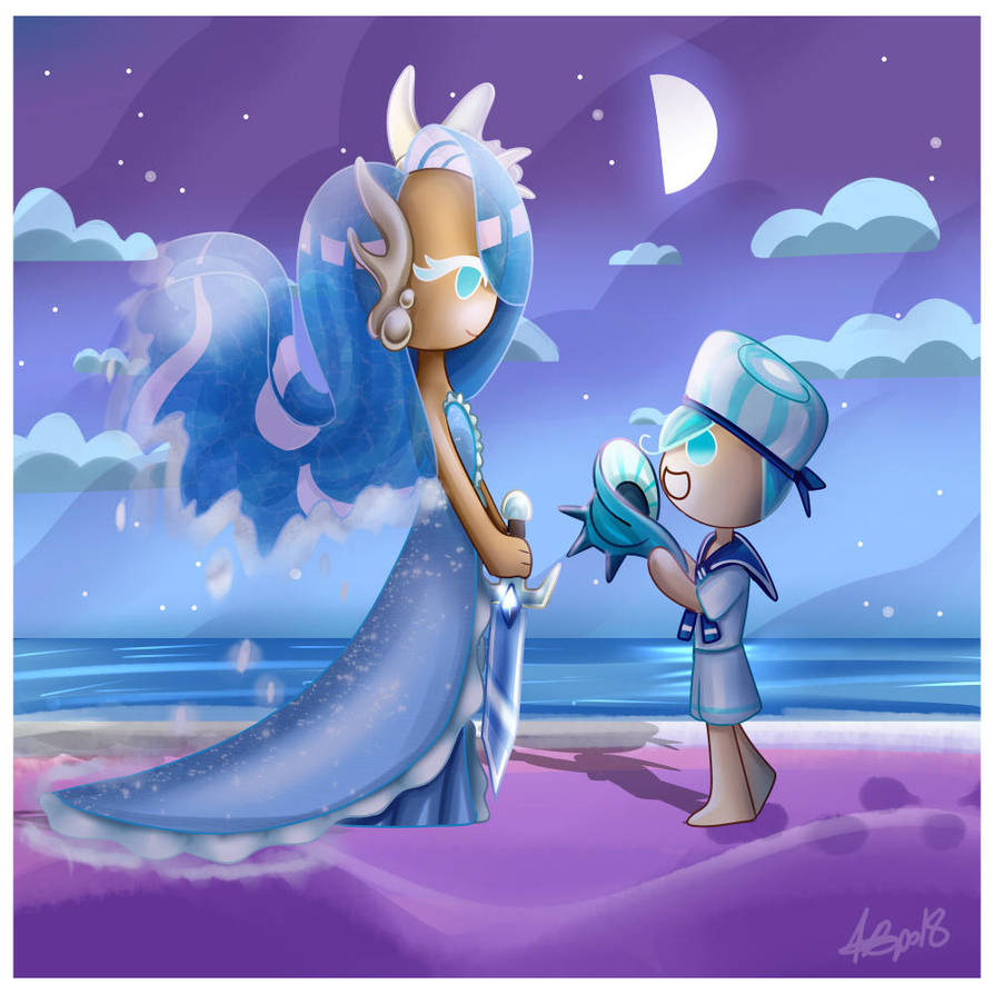 Let's listen to the sea together by MamaJebbunFanart