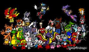 Video Game Heroes 2 by MelanieTheBobcat