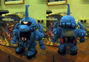 MS Gouf Plush Toy by eva-guy01