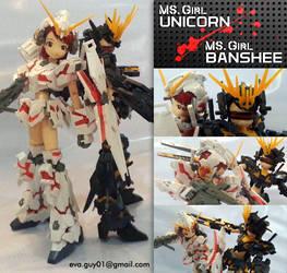 MS. Girls Unicorn and Banshee by eva-guy01