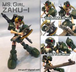 MS Girl Zaku-I by eva-guy01