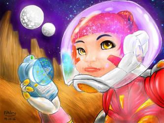 Space Girl by eva-guy01