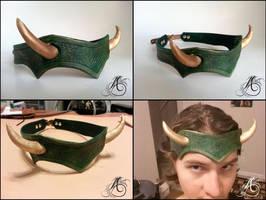Loki Headband - Leather by JAFantasyArt