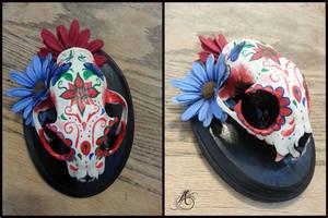 Dia de los Muertos Bobcat Sugar Skull by JAFantasyArt