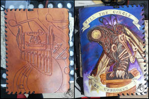 Bioshock Infinite Leather Journal by JAFantasyArt