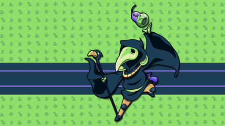 Plague Knight - HD Sprite Wallpaper by seraharcana