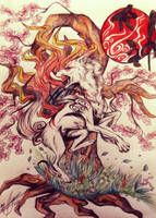 Okami Fanart by Ayeseratu