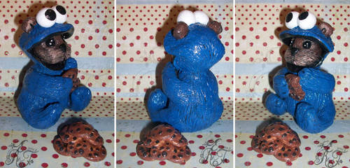 Cookie Monster Bear Collage by spookyspinster