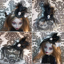 Doll Victorian Fascinator Hat-LYDIA by spookyspinster