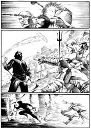 Ninja vs Gladiators Page 2 by anghorkheng