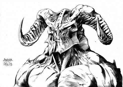 Demon sketch by anghorkheng