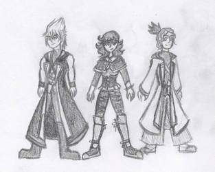 KH - Trio of Time, Space, and Gravity by snowcloud8